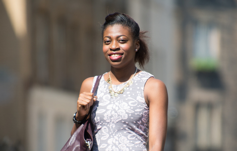 Photo of Onye, an undergraduate law student.