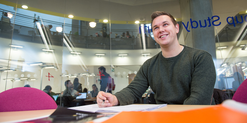 Photo of Accounting and Financial Services student at Edinburgh Napier University