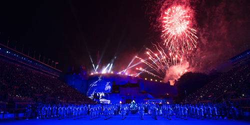 Fireworks over Edinburgh Castle at the Edinburgh Military Tattoo