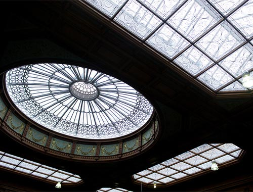 Glass roof in Edinburgh