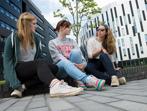 Students at Sighthill campus