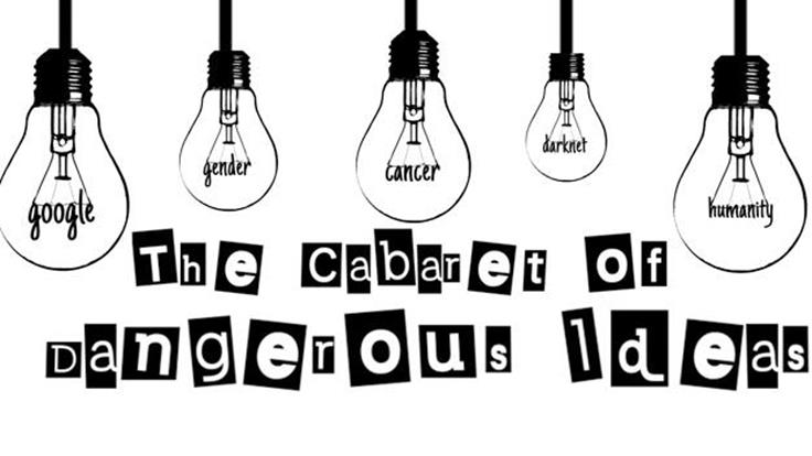 Cabaret of Dangerous Ideas logo with images of lightbulbs