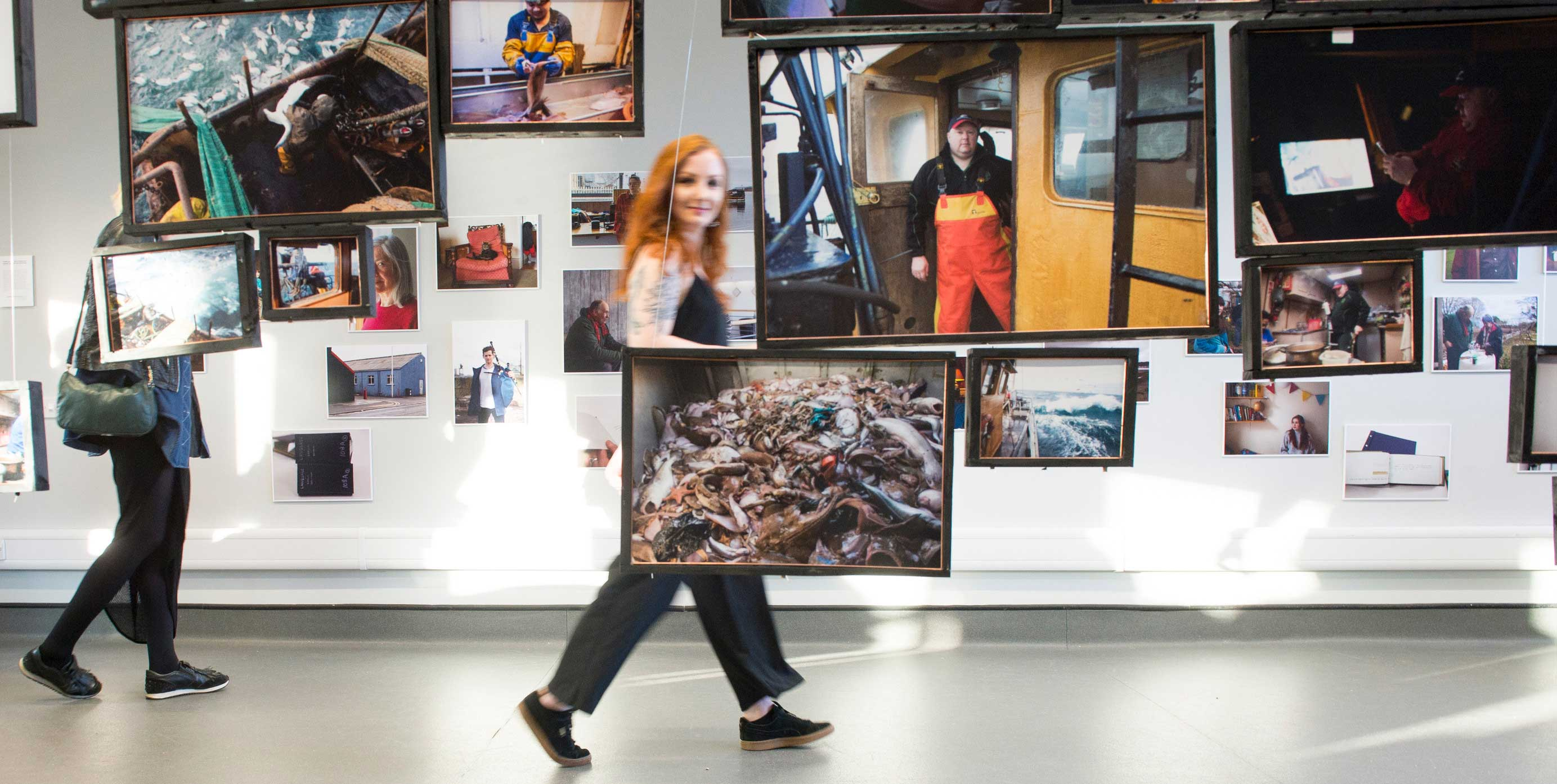 Edinburgh Napier Photography students at its Degree Show