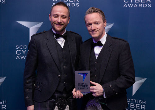 Scottish Cyber Awards 2019 hand over of Best Cyber Education Programme