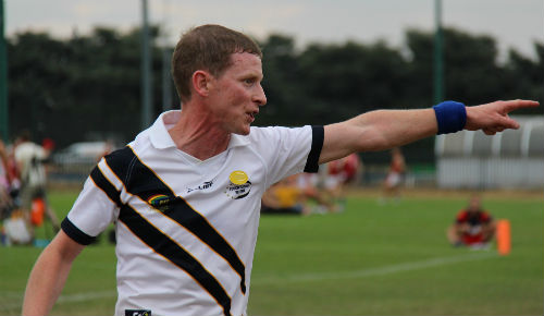 Generic photo of a sports referee pointing