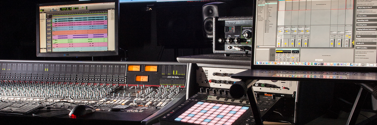 Image of recording studio equipment