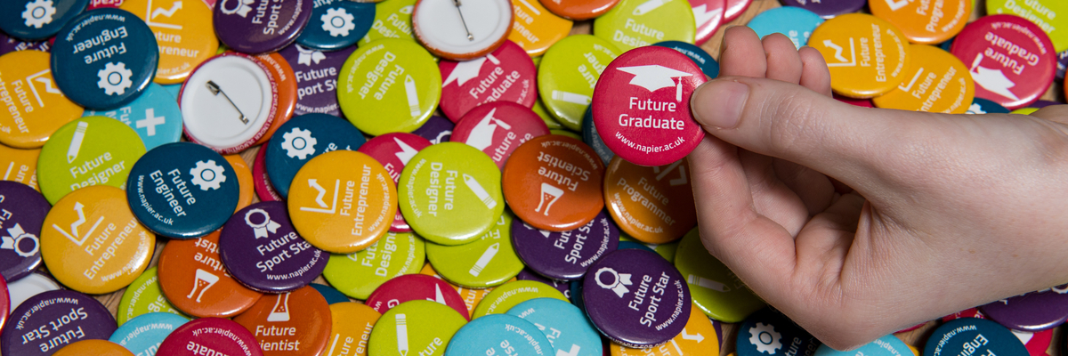 Future graduate promotional pins