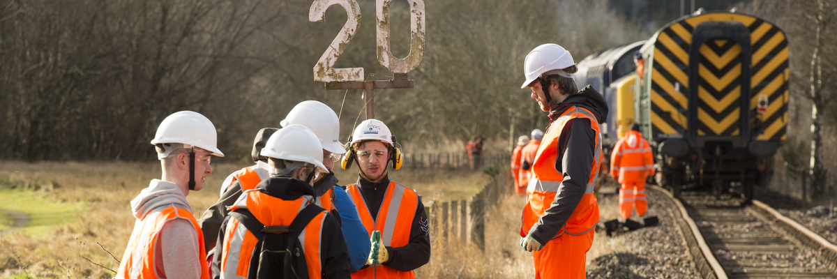 Civil Engineering undergraduates helping to repair the Bo''Ness and Kinneil railway line