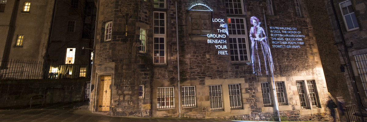 Projections on the Writers Museum | Edinburgh Napier University