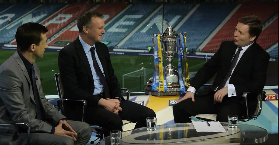 Former Sky Sports presenter and Edinburgh Napier graduate David Tanner