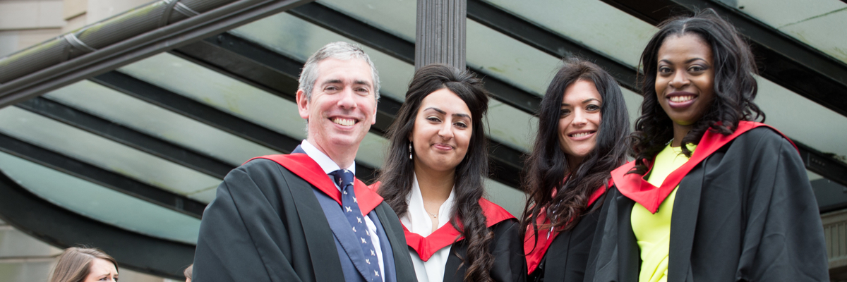 Graduating law students | Edinburgh Napier University