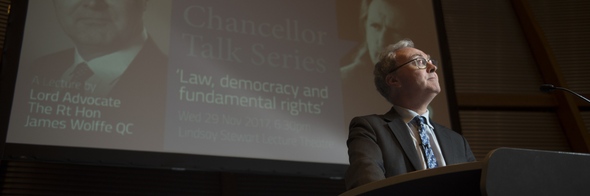 Lord Advocate James Wolffe QC lecture | Edinburgh Napier University